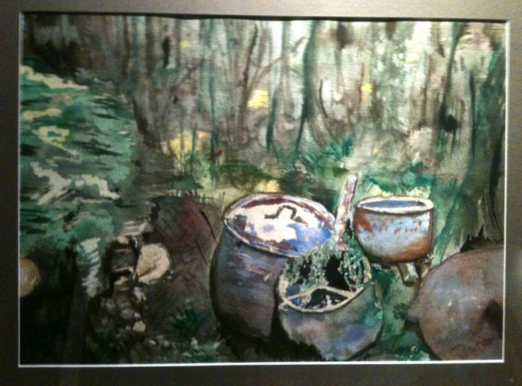 Pots in the Forest. Chapman Creek Trail, Sechelt, BC