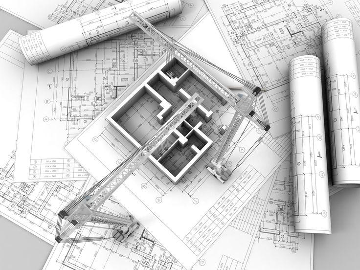 3D Building Construction Desktop HD Wallpaper