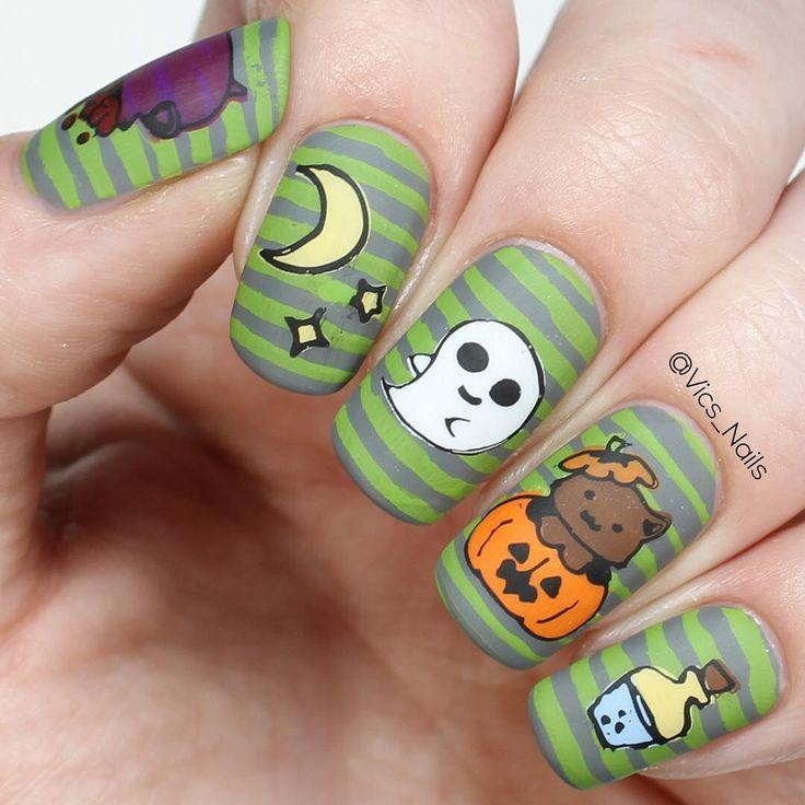 Mejores 791 imágenes de Halloween nails en Pinterest   Arte de uñas ...