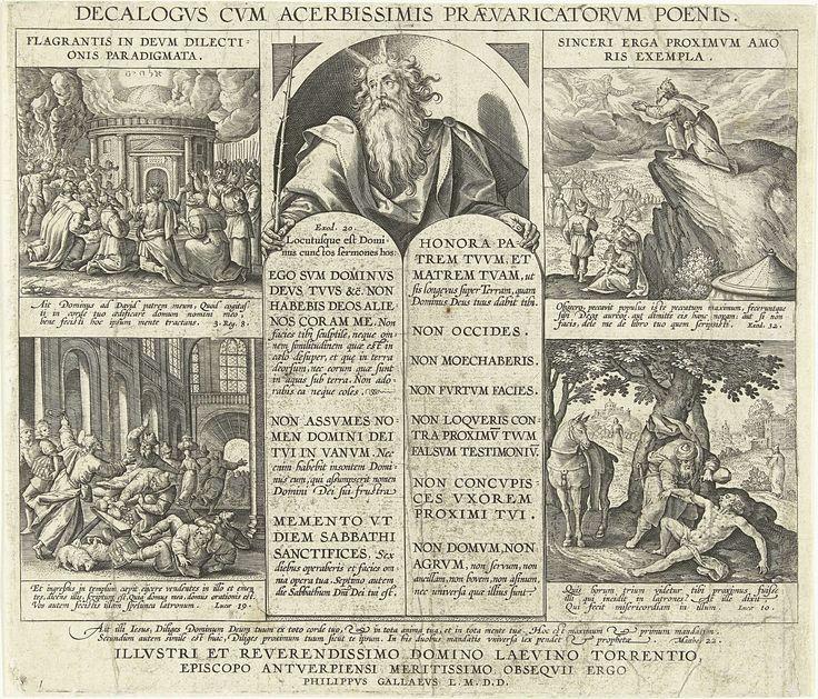 Mozes met de Tien Geboden, Adriaen Collaert, 1585 - 1589