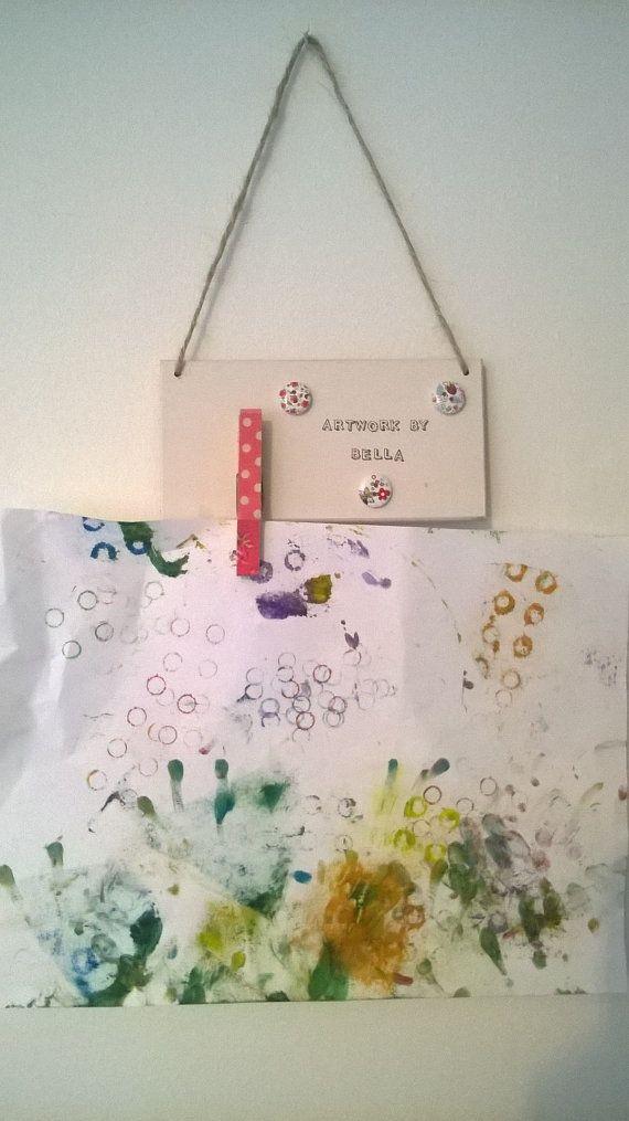 Personalised Children's Peg Art Hanger for by Windovertide