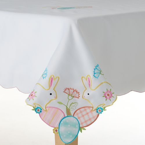 Celebrate Easter Together Bunny Cutout Tablecloth
