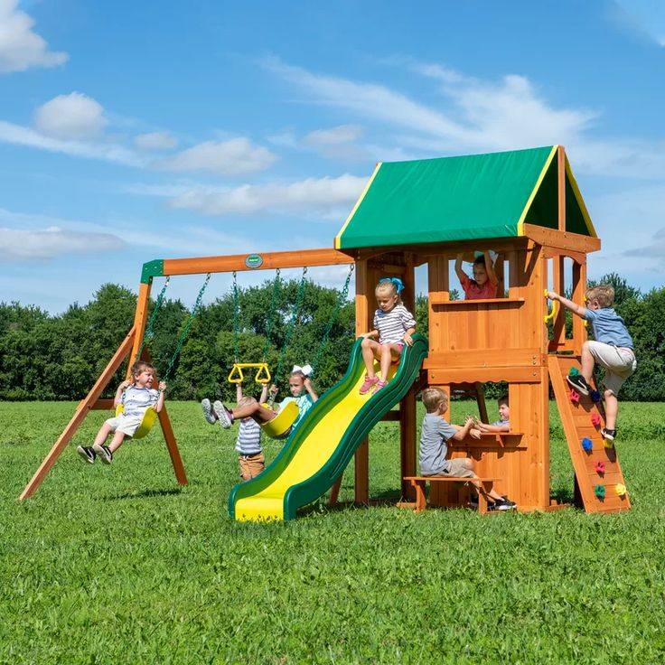 Somerset Cedar Swing Set in 2020 | Backyard swing sets ...