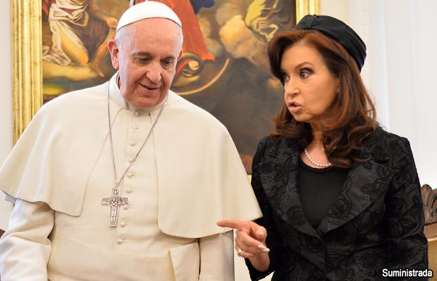 Cristina Fernández se reúne con el Papa Francisco