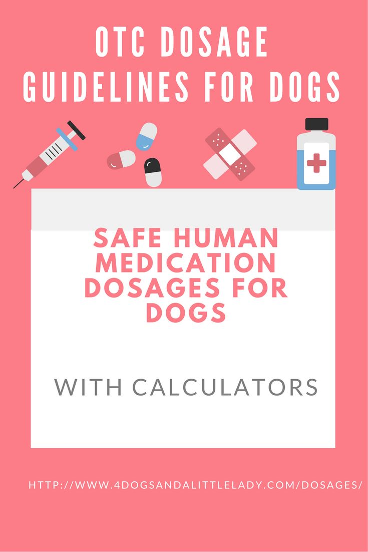 The recommended dosage for benadryl, aspirin, robitussin, immodium AD, and kaopectate with easy to use calculators. Just input your dog's body weight.