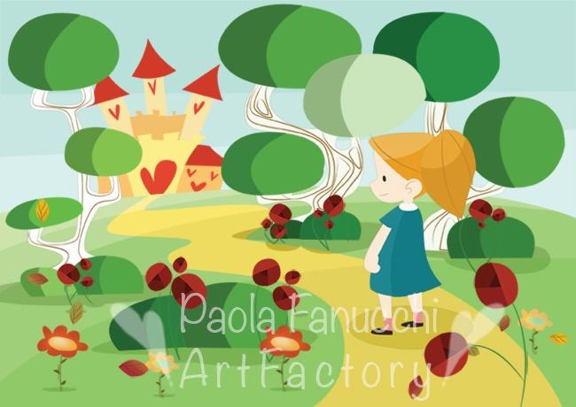 Alice in wonderland - digital illustration - fall 2012
