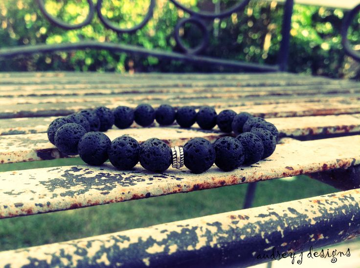 Men's black Lava Bracelet