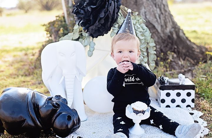 baby outfit monochrome party smash the cake animal first birthday