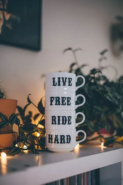 Red Temple Prayer | Live Free Ride Hard Stacker Set | Home Decor