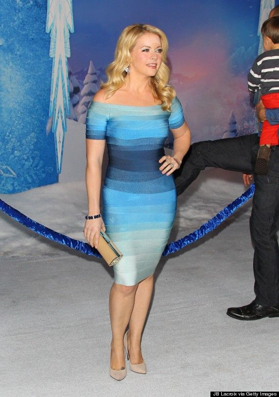 Herve Ledger bandage dress loaned to me by Rent the Runway for the Frozen premiere!