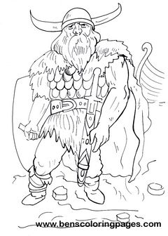 viking warrior children coloring pages