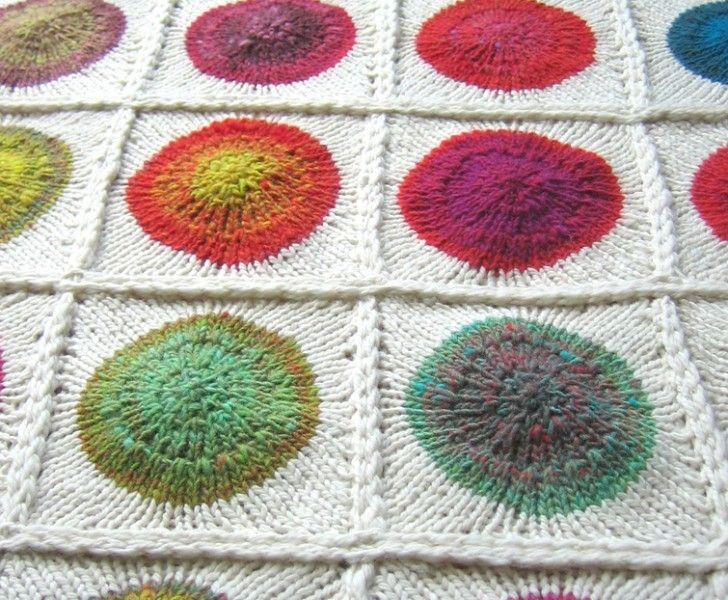sticka inspiration handarbete stickning diy filt pläd