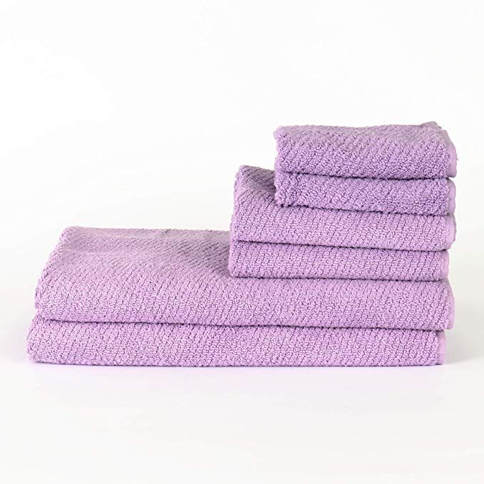 Arkwright Quick Dry Cotton Towel Set Pack Of 6 Large Zero Twist