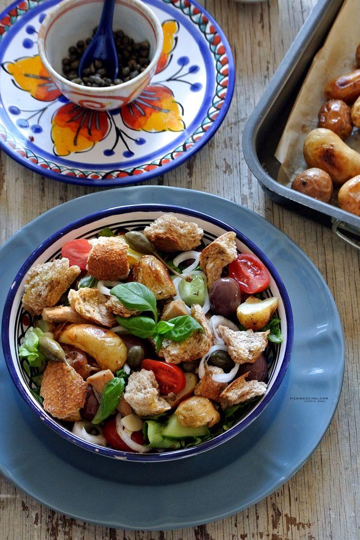 Aeolian Sicilian Salad - Insalata Eoliana piatto unico buonissimo @vicaincucina