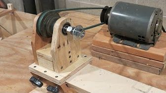 Homemade Lathe & Disc Sander Part2 - YouTube