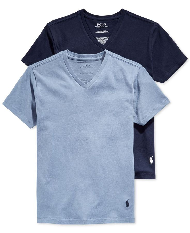 Polo Ralph Lauren Boys' or Little Boys' 2-Pack V-Neck T-Shirts