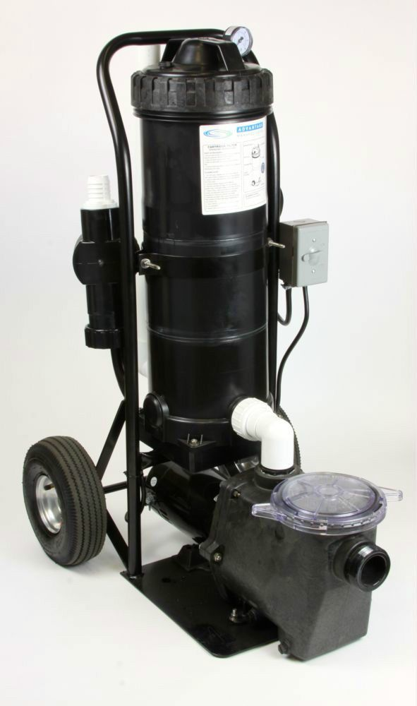 Portable Pool Vacuum Cleaner System 1 0 Hp Pump With 100 Sq Ft Filter System Advantagemfg