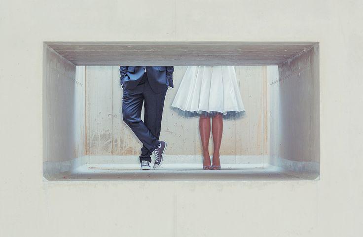rock ´n roll Brautkleid im 50er Jahre Look mit grauem Petticoat und ...