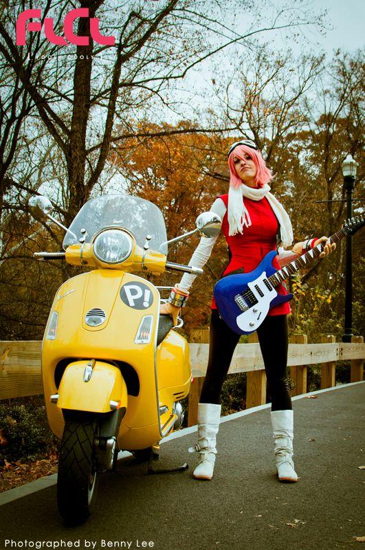 """""""Haruko Haruhara :: FLCL / Furi Kuri / Fooly Cooly Cosplay ((Katie))"""""""
