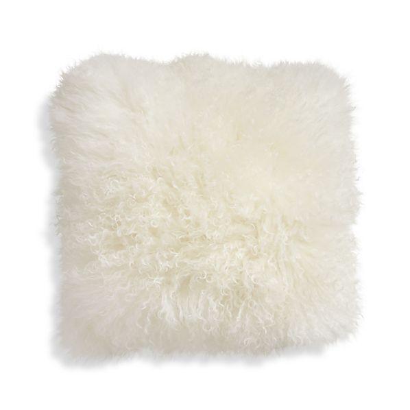 """Pelliccia 16"""" Mongolian Lamb Fur Pillow"""