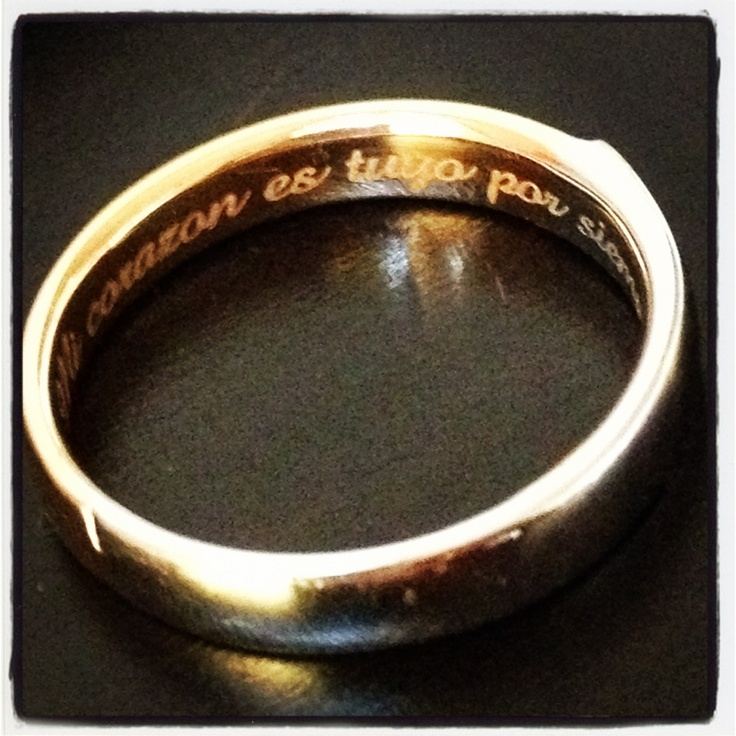 Wedding Bands. My Heart Is Yours Forever (Spanish