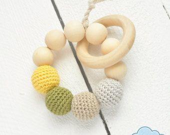 Jouet de dentition moderne, anneau de dentition bébé, anneau de dentition, jouet de bébé inspiration Montessori