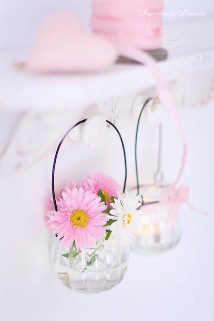 ... ♥ ...Hanging jar candle holders