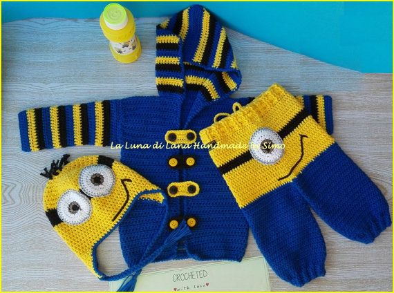 Onesie for babies to crochet inspired Minions by LaLunadiLanaHandmade | Etsy