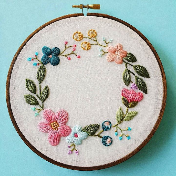 Vancouver-based artist Caitlin Benson (of Cinder & Honey) embroiders vintage-inspired flowers that will last a lifetime. Before reaching for her embroidery hoop, the designer always starts with a sketch on paper, which undergoes several revisions before Benson begins preparing her needle and thread. Once this initial stage is complete, the creative breathes life into her idea as she transforms a stretch of fabric with her vibrant supplies. While these floral concepts may vary in color…