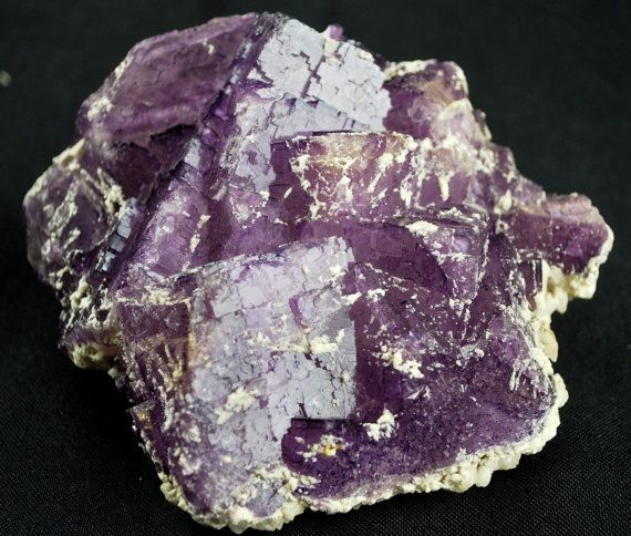 Large Gorgeous Purple Fluorite Cluster by Heavenlyearthgifts