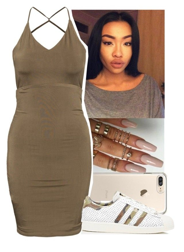 """"""""""" by aribearie ❤ liked on Polyvore featuring adidas"""