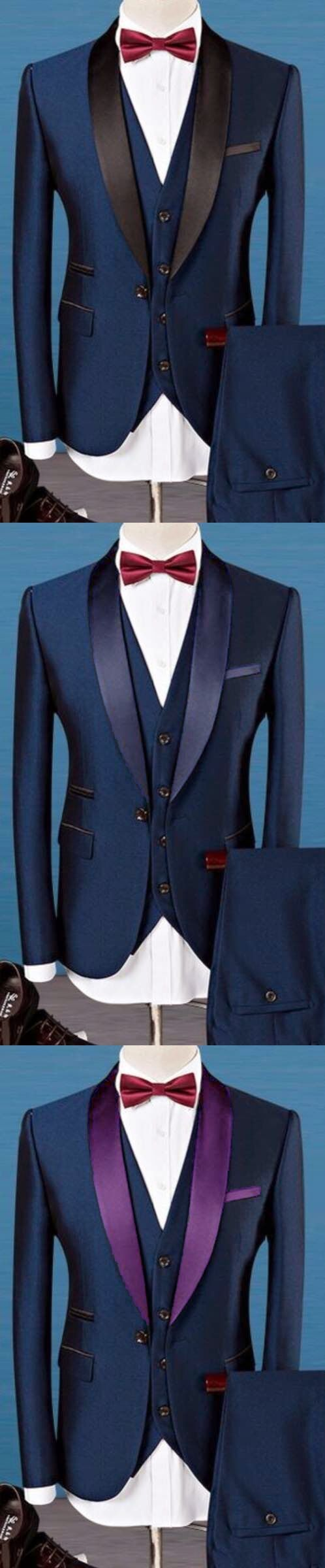 Latest Coat Pant Designs Navy Blue Shawl Lapel Men Suit Slim Fit 3 Piece Blazer Custom Tuxedo Groom Prom Suits Terno Masculino H
