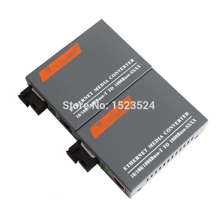 1 זוגות HTB-GS-03 A/B Gigabit סיב האופטי Media Converter 1000 Mbps יציאת SC סיב בודד מצב יחיד 20 KM ספק כוח חיצוני