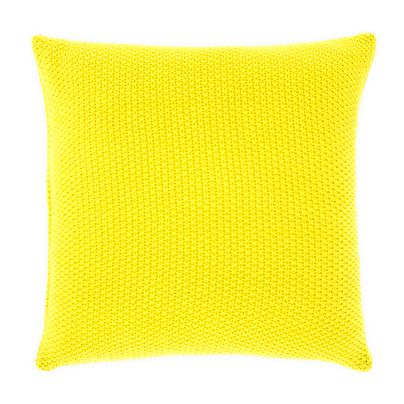 Moss stitch cushion in Bright Yellow 50cm