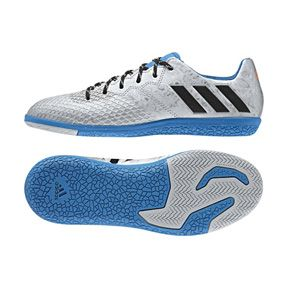 adidas Youth  Lionel Messi   16.3 Indoor Soccer Shoes (Silver Metallic): http://www.soccerevolution.com/store/products/ADI_13146_F.php