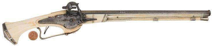 Lock, Stock, and History, An ivory stocked Dutch child's wheel-lock pistol,...