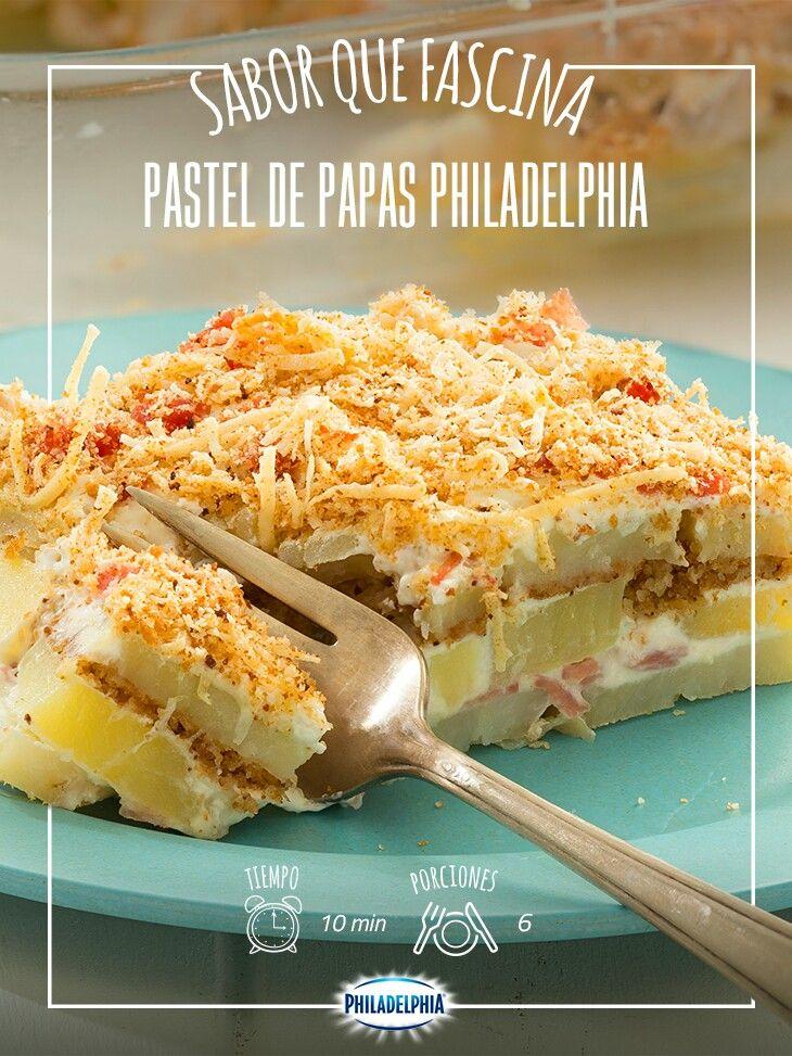 Comparte este delicioso Pastel de papas Philadelphia en una tarde con tus amigas.    #papas #pasteldepapas #recetas #quesophiladelphia