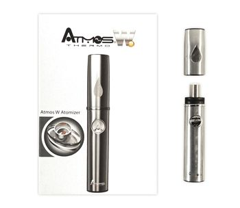 Atmos Thermo Portable Vaporizer Atmos Thermo vaporizer, small compact design, quick heat up time, travel case included, long battery life Starter Kit Includes: -Tank cover -Atmos W Atomizer -Lithium Ion Battery -Retractable USB Charger -User Manual -Pouch