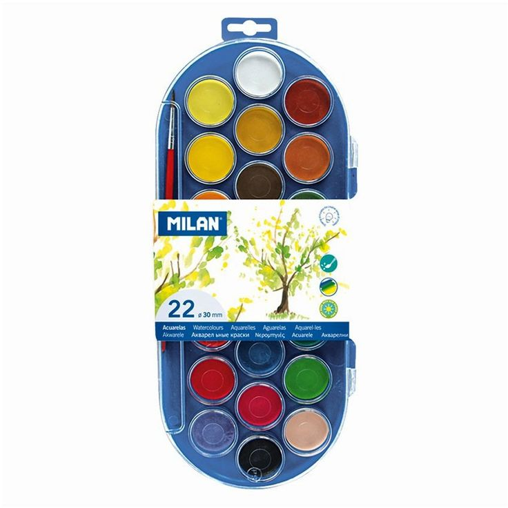 Price Rs.590/- Buy Milan Watercolor Tablets 22 Shades Online  in India