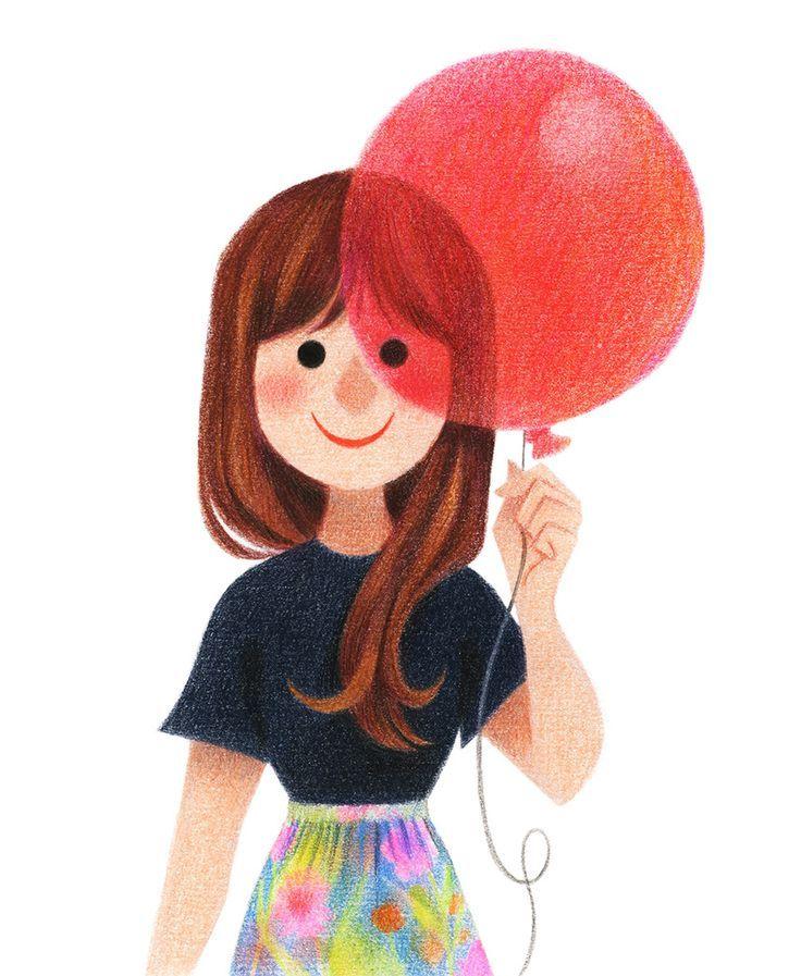Картинка с девочкой с шариками