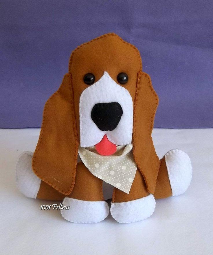 1001 Feltros: Decoração personalizada cachorrinhos de estimação.