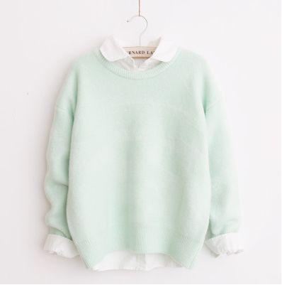 Japanese kawaii candy color sweater - Thumbnail 1