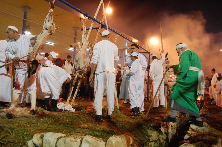 My Accidental Career in Wanderlust — The Samaritans perform their annual Passover sacrifice atop Mount Gerizim in Palestine. (Stephanie Rice/April 2009) I had come to Mount Gerizim to write a story on the Samaritans, an ancient and dwindling ethnoreligious group plagued by genetic deformities from intermarriage. On this particular night, they were holding their annual Passover lamb sacrifice, an event that draws Israelis and Palestinians alike.