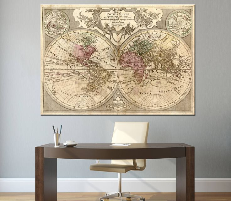 76 best World map images on Pinterest  World maps Canvas prints