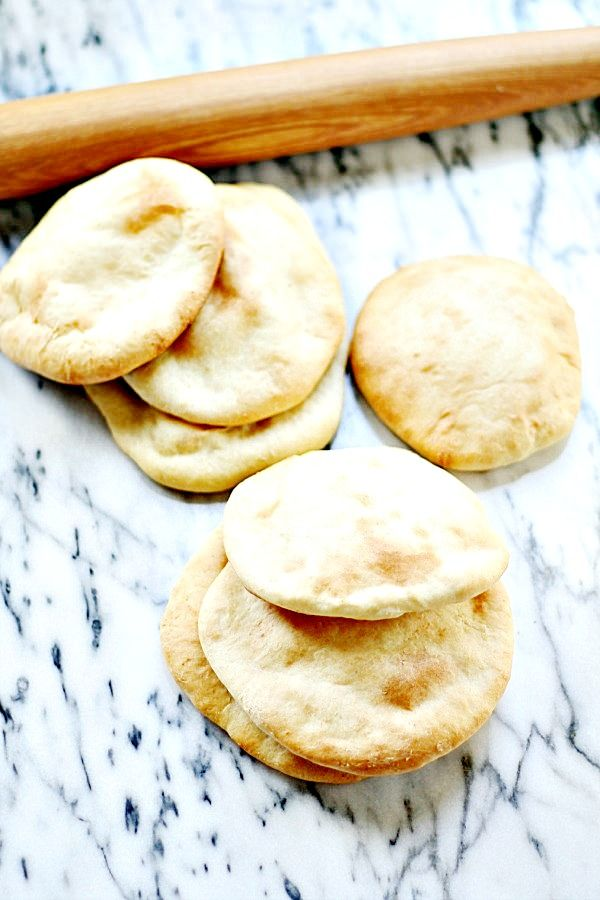 homemade pita bread - so much better than store bought, and easy to make | heathersfrenchpress.com