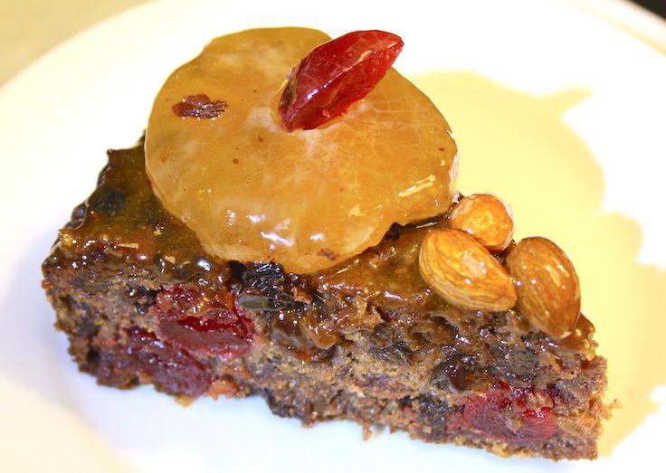 Traditional Vegan Gluten-free Sugar-free Fruitcake
