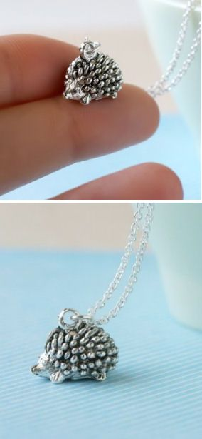 Tiny Hedgehog Necklace <3