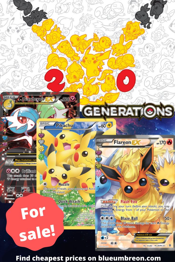 Buy all the rarest xy generations pokemon cards at best