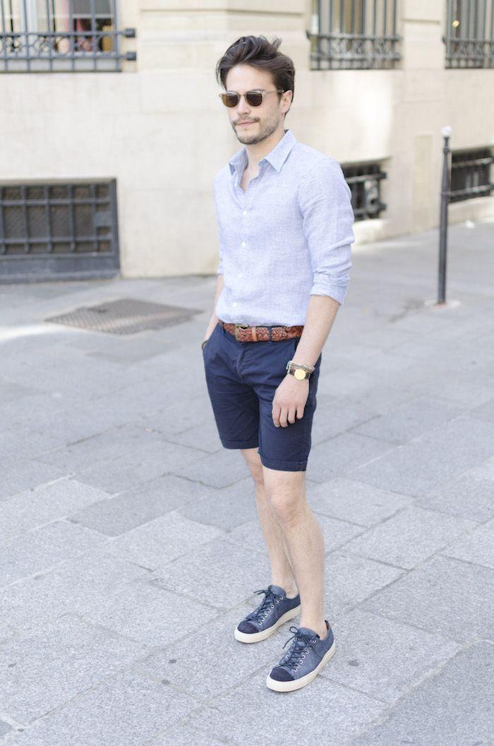 Conseils   Comment choisir et porter un short ou bermuda pour homme      Pins We Love to Keep   Pinterest   Outfits, Mens fashion and Summer outfits 98408b7dc5c3