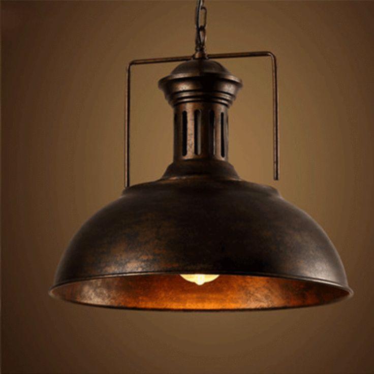 EDISON VINTAGE INDUSTRIAL LAMP SHADE PENDANT LIGHT RETRO LOFT IRON CEILING LAMP